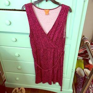 Euc L joe faux wrap dress